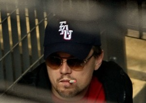 leonardo DiCaprio smoking an electronic cigarette